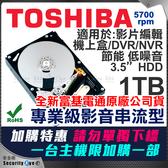 【台灣安防家】1TB 3.5吋 TOSHIBA 東芝 監控 影音 硬碟 SATA3 5700轉 DT01ABA 適 1080P 4MP 5MP DVR