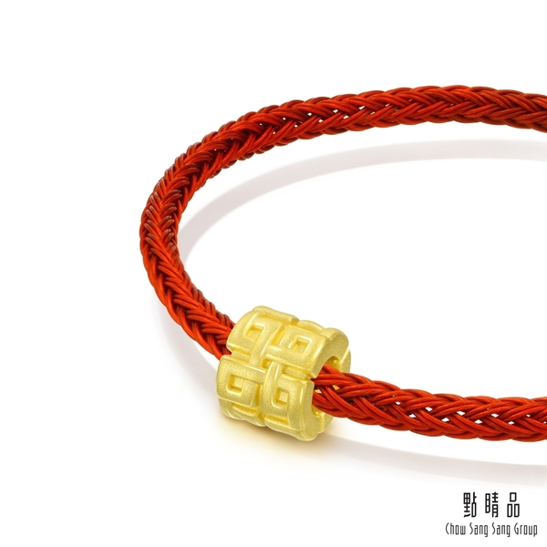 點睛品 Charme文化祝福 祥瑞轉運珠 黃金串珠
