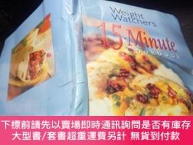 二手書博民逛書店weight罕見watchers 15.Minute cook book 1998年 16開硬精裝 原版英法德意等