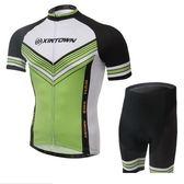 自行車衣-(短袖套裝)-戶外時尚透氣排汗男單車服套裝73er24【時尚巴黎】