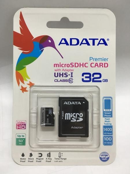 【鼎立資訊】威剛 Micro SD 32GB 記憶卡sd 32G ADATA C10 TF