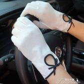 夏季簡約純色純棉女士手套 防曬開車防滑吸汗透氣舒適  提拉米蘇
