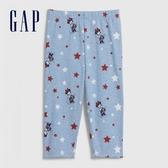 Gap 女幼童 Gap x Disney迪士尼系列印花鬆緊休閒褲 576788-米奇米妮圖案