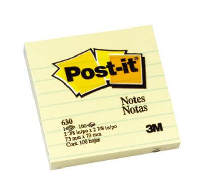【西瓜籽文具】3M 便利貼可再貼橫格便條紙(630)