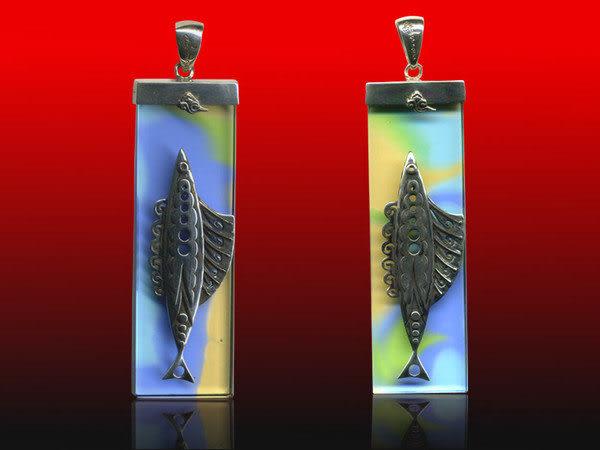 鹿港窯~開運古法水晶琉璃銀飾項鍊~想飛◆附精美包裝◆免運費送到家