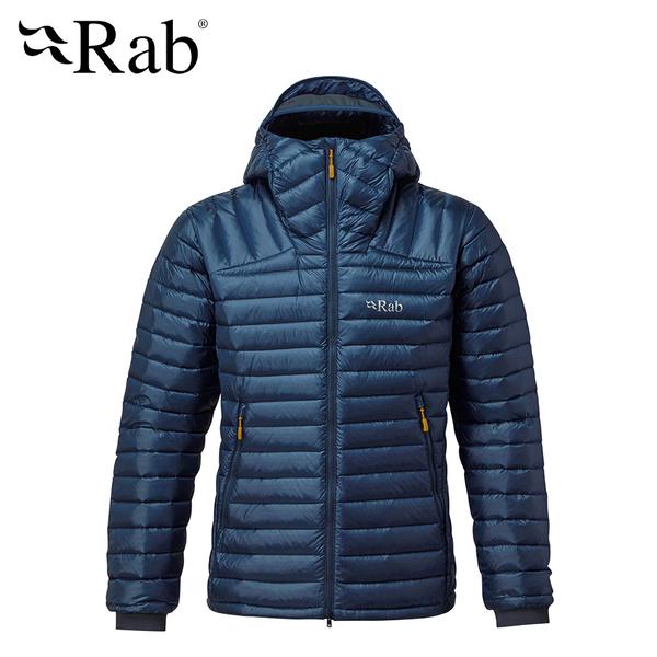 【英國 RAB】Microlight Summit Jacket 高透氣羽絨連帽外套 男款 深墨藍 #QDA88