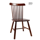 實木椅子北歐簡約溫莎椅酒店咖啡廳家用靠背凳子黑色椅子餐桌椅 晴天時尚
