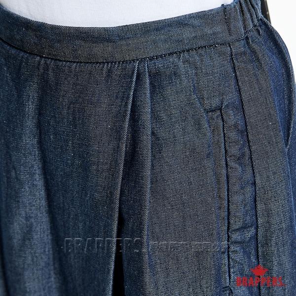 BRAPPERS 女款 Boy friend系列-天絲棉鬆緊帶八分褲-藍