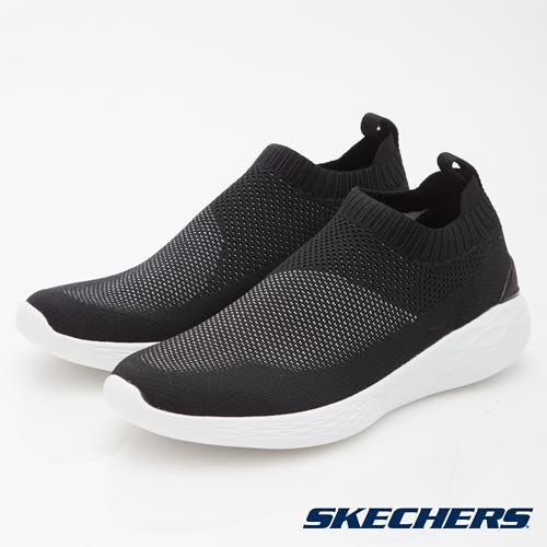 SKECHERS 男鞋 健走系列 GO STRIKE 襪套式輕量 - 黑 54211BKW