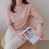 簡約時尚紐釦長袖針織上衣針織衫毛衣韓版【59-24-8T35014-A-21】ibella 艾貝拉