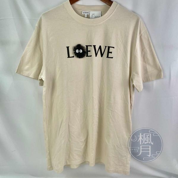 BRAND楓月 LOEWE 羅威 奶茶白 龍貓聯名 Totoro 吉卜力系列 炭灰精靈 短袖T恤 尺寸男M