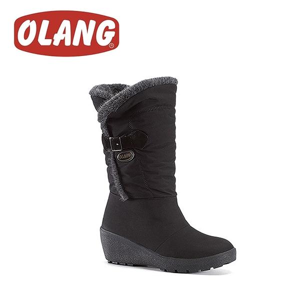 【OLANG 義大利 ELSA OLANTEX 防水雪靴《黑》】1403/保暖/滑雪/雪地