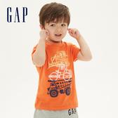 Gap 男幼童 棉質舒適圓領短袖T恤 545893-亮橘色