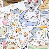 【BlueCat】做我的喵盒裝貼紙 (45入) 手帳貼紙
