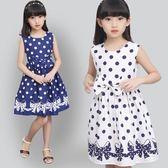 童裝女童夏裝洋裝韓版洋氣2018新款兒童圓點時髦裙子LJ7648『夢幻家居』