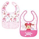 日本 迪士尼 Disney 寶貝米妮寬版圍兜兜(2件組)