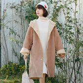 連帽外套 新款秋冬絨羊羔毛中長韓版連帽外套學生寬松港風衣女 數碼人生
