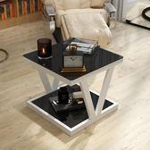 現代簡約邊幾創意客廳正方角幾沙髮邊小茶幾電話幾北歐鋼化玻璃桌·享家生活館YTL