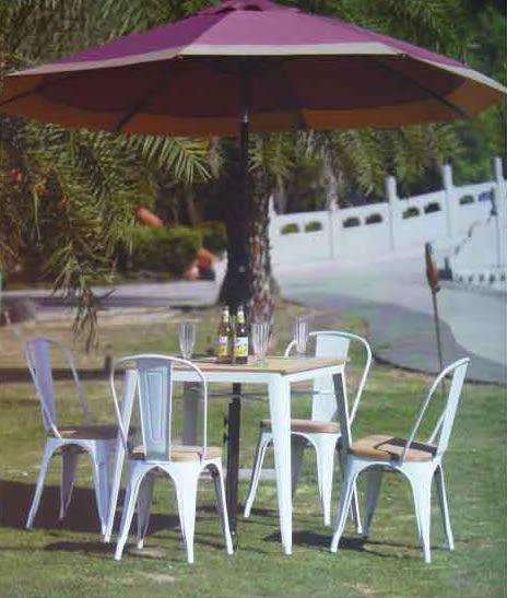 【南洋風休閒傢俱】設計單椅 80x80方桌+木板曼尼扶手椅 鐵板吧椅 復古美式吧椅 復刻吧椅 (524-8)
