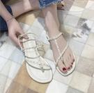 夾腳涼鞋 2020年夏季新款涼鞋女ins潮仙女風一字式扣帶夾腳網紅百搭平底鞋 進店領券