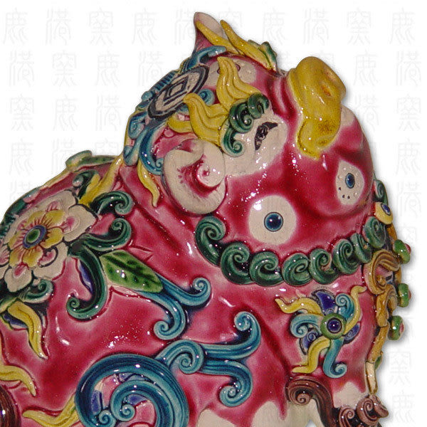 鹿港窯-居家開運商品-台灣國寶交趾陶M十二生肖-豬