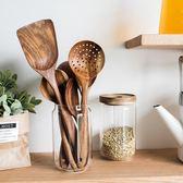 雙十二狂歡購日式木柄湯勺調味勺飯匙撈勺菜鏟漏勺廚房廚具