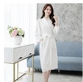 浴衣 睡衣女夏性感浴袍夏季睡袍男女通用純白裕袍情侶薄款和風日式浴衣