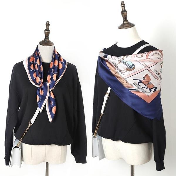 女士絲巾新款韓國百搭職業小方巾頭巾裝飾圍巾領巾 黛尼時尚精品