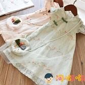 女童旗袍裙子夏裝漢服中國風公主裙兒童連身裙【淘嘟嘟】