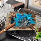 小熊居家歐式煙灰缸擺件家居裝飾品創意時尚個性大號水晶玻璃奢華高檔