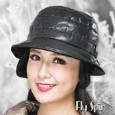 護耳冬帽子-男女防潑水防風鋪棉保暖絲絨護耳冬帽13AW-S023A FLYSPIN