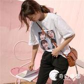 T恤-網紅上衣服BF怪味少女生嘻哈酷帥氣街頭ins短袖t恤潮-奇幻樂園