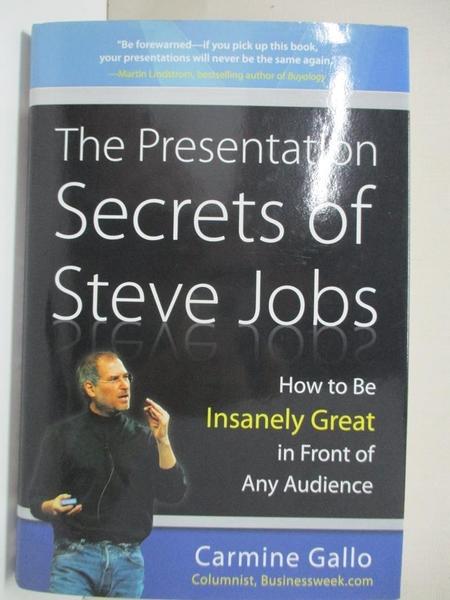 【書寶二手書T1/財經企管_H12】The Presentation Secrets of Steve Jobs_Carmine Gallo