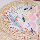 6條裝 嬰幼兒純棉口水巾寶寶針織棉小毛巾手帕印花小方巾-JoyBaby