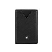 【MONT BLANC】匠心系列防刮皮革3卡式卡夾(黑色) 128582