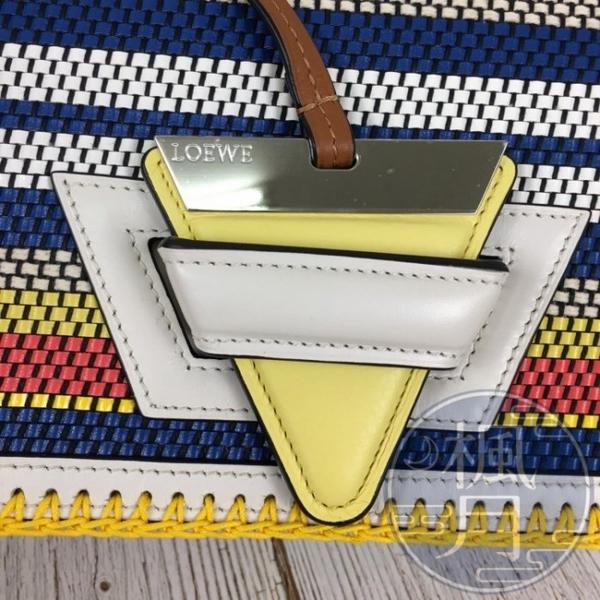 BRAND楓月 LOEWE 羅意威 彩色編織 巴塞隆納 牛皮 撞色 肩背手提兩用包