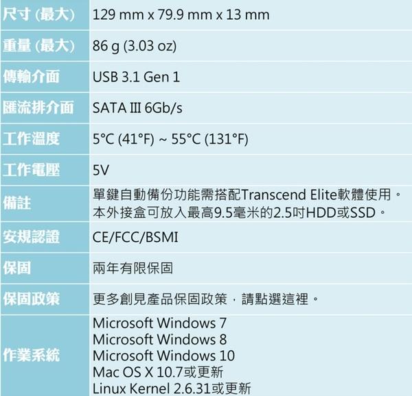【加贈3C收納袋+免運費】創見 25S3 USB3.1 Gen1 SATA HD/SSD 2.5吋硬碟 超薄外接盒X1台( NEW 超薄型 Slim)