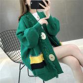 針織外套 很仙的毛衣女慵懶風秋裝2019韓版新款寬鬆中長款針織衫開衫女外套