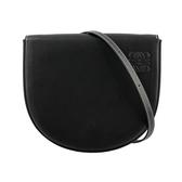 【LOEWE】Heel Bag 小牛皮馬蹄斜背包(黑色) 109.54.V01 1100