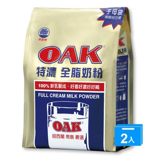 OAK特濃全脂奶粉1400Gx2【愛買】