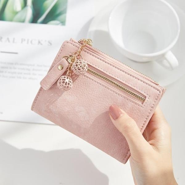 短夾皮質短款女錢包包包可愛甜美百搭照片個性卡位搭扣創意硬幣短夾 果果生活館