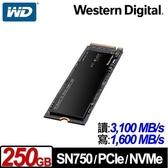 WD 威騰 黑標 SN750 250GB NVMe PCIe SSD固態硬碟
