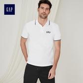Gap男裝 Logo雅致風格短袖Polo衫 440725-白色