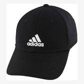 Adidas- 愛迪達男萊克彈力帽(黑色)