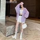 防曬外套女冰絲防曬衣女中長款薄防曬衫學生透氣防紫外線防曬服外套 快速出貨