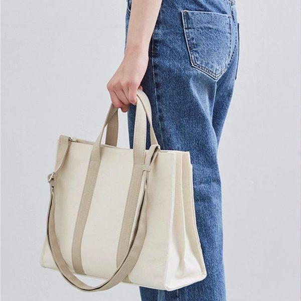 公事包 韓版商務公文包帆布側背手提包chic時尚學生書包文件包潮 黛尼時尚精品