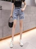 牛仔短褲女夏季薄款港味高腰顯瘦破洞寬鬆直筒闊腿五分中褲韓版潮