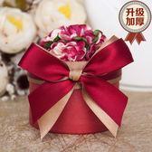 8個裝結婚喜糖盒創意禮盒糖果包裝盒婚慶用品圓筒中國風紅色婚禮糖盒紙