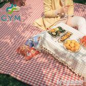 野餐墊紅白格加厚戶外便攜防潮墊可摺疊帳篷防水野營地墊 NMS快意購物網