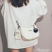 包包女2020新款潮古著感網紅復古帆布斜背包女百搭ins軟妹側背包 黛尼時尚精品